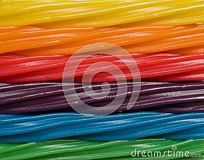 De regenboog van het suikergoed