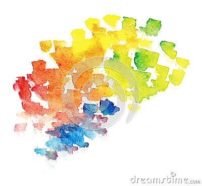 De regenboogachtergrond van Watercolour