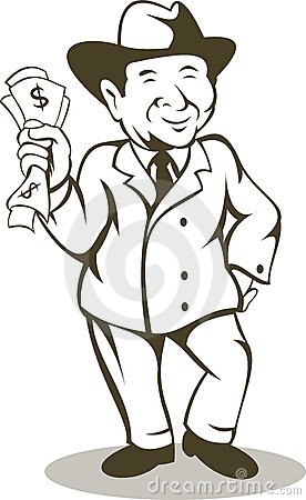 De rekening van de het gelddollar van de zakenman
