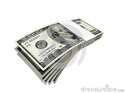 De rekeningspak van de dollar 2 f1s