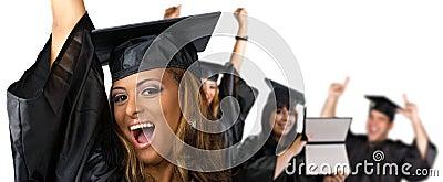 De remise des diplômes heureux