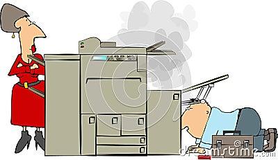 De reparatie van het kopieerapparaat