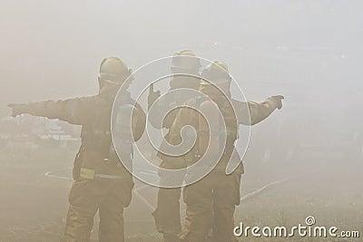De Richtingen van brandbestrijders