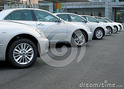De rij van auto s