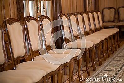 De rij van de stoel