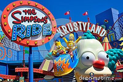 De rit Simpsons Redactionele Fotografie