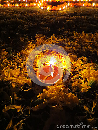 De Rituele Lamp van Diwali