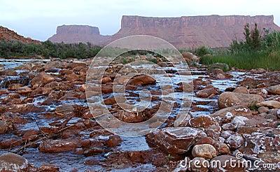 De Rivier van Colorado, Moab, Utah, de V.S.