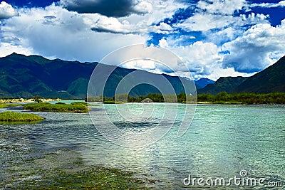 De rivier van Niyang