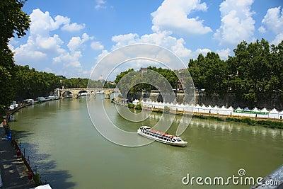 De rivier van Tiber