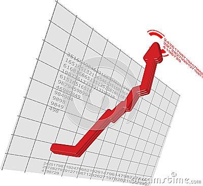 De rode Beweging van de Pijl van de Grafiek op Vector