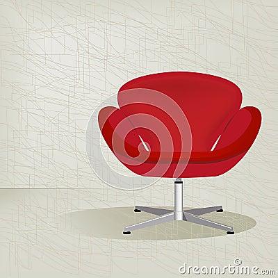De rode retro stoel van jaren 39 50 royalty vrije stock afbeelding afbeelding 9014026 - Stoel rode huis van de wereld ...