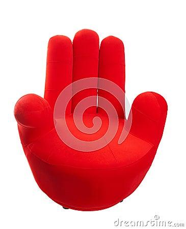 De rode stoel van de hand royalty vrije stock afbeelding afbeelding 13486426 - Stoel rode huis van de wereld ...