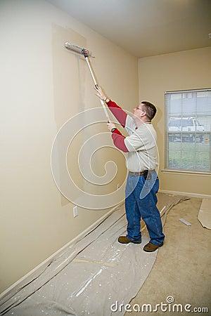 De Rolling muren van de schilder
