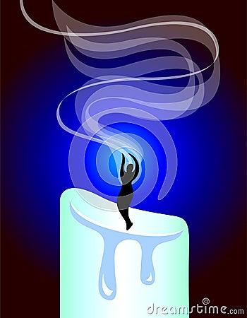 De Rook van de Kaars van de meditatie