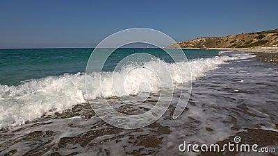 De rotsen van Cyprus Aphrodite stock video