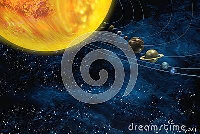 De ruimte van het zonnestelsel stock fotografie afbeelding 14118782 - Ruimte van het meisje parket ...