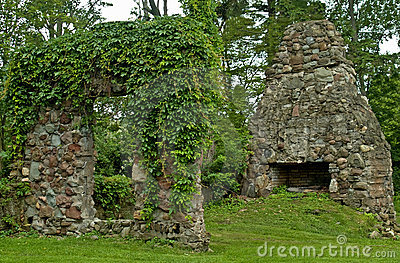 De ruïnes van de steen