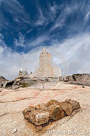 De Ruïnes van het kasteel