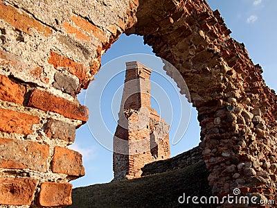 De ruïnes van het oude kasteel