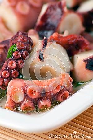De Salade van de octopus