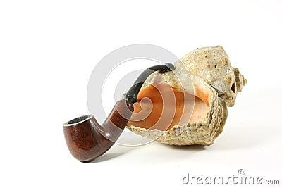 De samenstelling van de pijp en shell