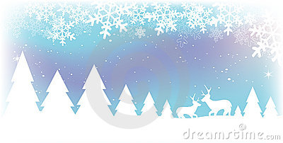 De Scène van de Sneeuw van Kerstmis