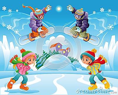 De scène van de winter.
