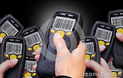 De Scanner van de streepjescode