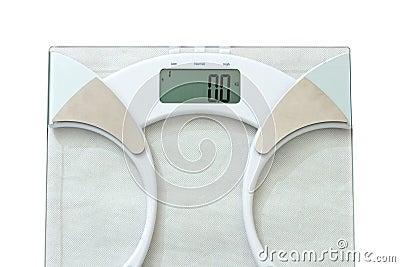 De schaal van het gewicht