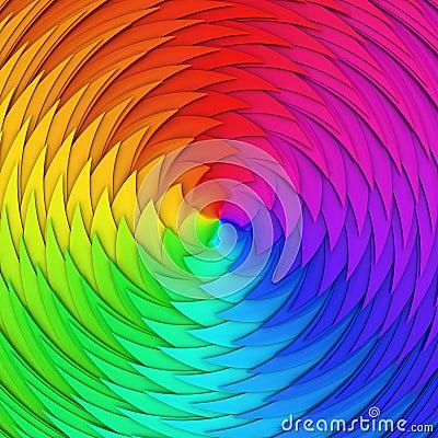 De schaal van het spectrum