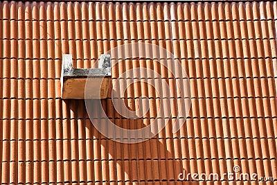 De schaduw op een dak