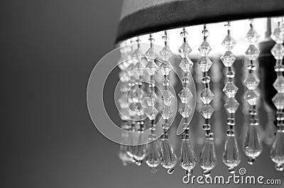 De schaduw van de lamp