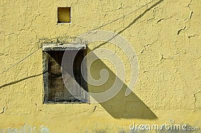 De schaduw van het venster