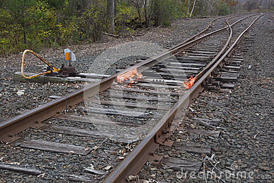 De Schakelaar van het spoorwegspoor