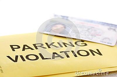 De schending van het parkeren