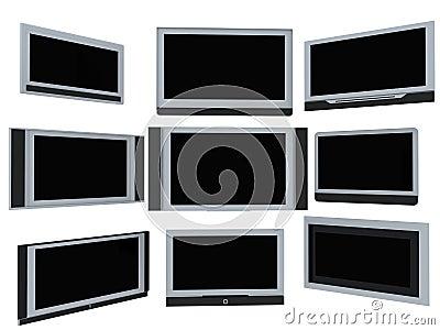De schermen van TV