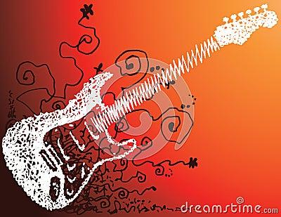 De schets van de gitaar