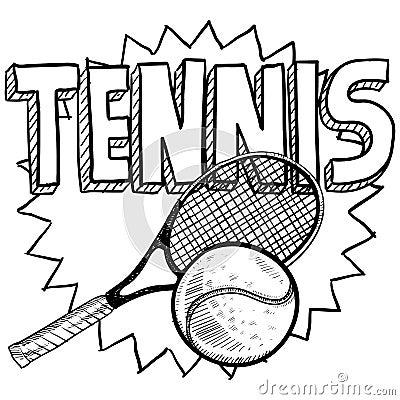 De schets van het tennis