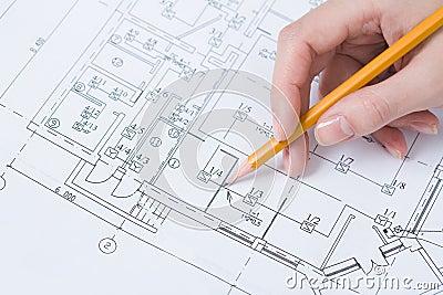 De schetsen van de tekening