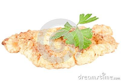 De schnitzel van de kip