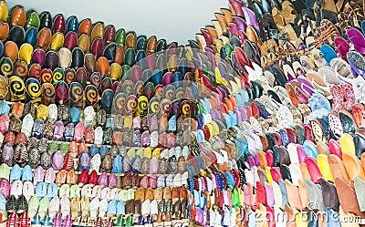 De schoenen van Maroccan