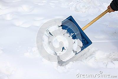 De schop van de sneeuw