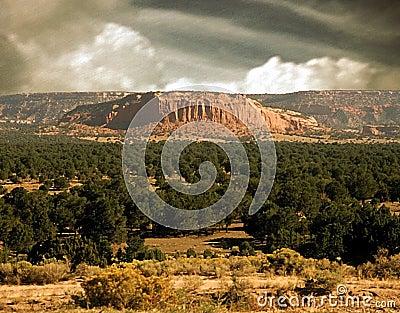De scène van New Mexico