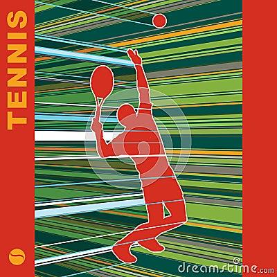De server van het tennis