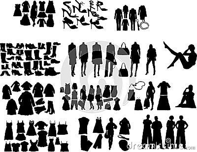 De silhouetten van de manier