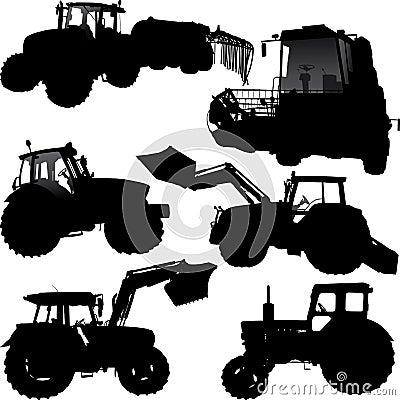 John Deere Tractor Silhouette De-silhouetten-van-de-tractor- ...