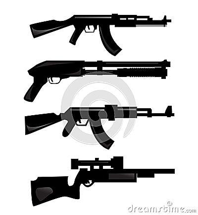 De silhouetten van het wapen