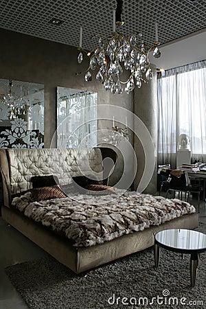 De slaapkamer van de luxe
