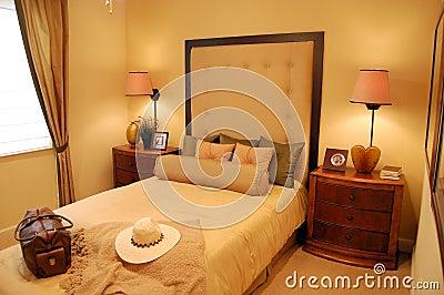 de slaapkamer van de ontwerper royaltyvrije stock afbeelding, Meubels Ideeën